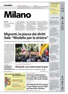 la Repubblica Milano - 12 Gennaio 2019