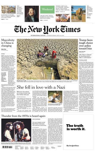 International New York Times - 15-16 June 2019