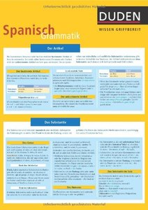 Duden Wissen griffbereit, Spanisch Grammatik (repost)