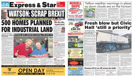 Express and Star Sandwell Edition – June 18, 2019