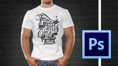 Bestselling T-shirt Design Masterclass With Adobe Photoshop