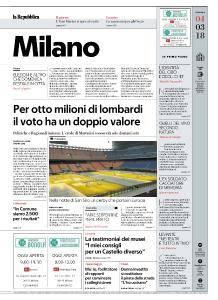 la Repubblica Milano - 4 Marzo 2018