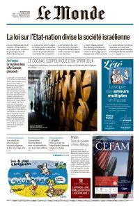 Le Monde du Jeudi 9 Août 2018