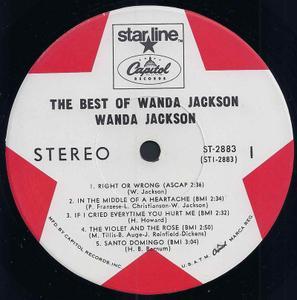 Wanda Jackson The Best Of Wanda Jackson 1968 Vinyl