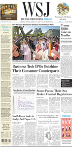 The Wall Street Journal – 20 April 2019