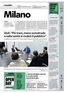 la Repubblica Milano - 20 Febbraio 2018