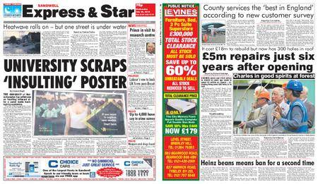 Express and Star Sandwell Edition – July 25, 2018
