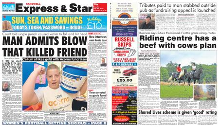 Express and Star Sandwell Edition – July 30, 2019