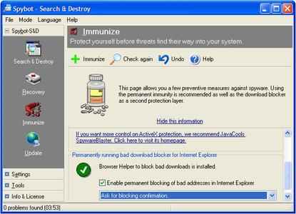 Spybot Search and Destroy Detection Updates 2006-05-19