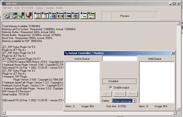 HARLEQUIN SPD-RIP version 5.5 revision 1