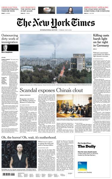 International New York Times - 9 July 2019