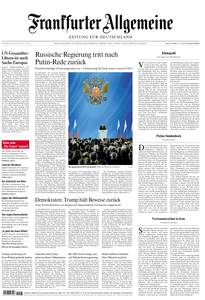 Frankfurter Allgemeine Zeitung F.A.Z. - 16. Januar 2020