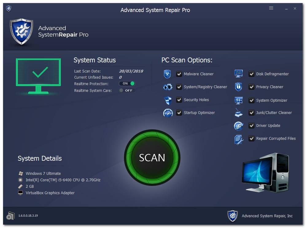 Advanced System Repair Pro 1.7.0.11.18.5.1