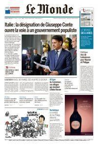 Le Monde du Vendredi 25 Mai 2018