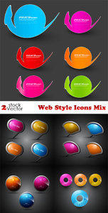 Vectors - Web Style Icons Mix