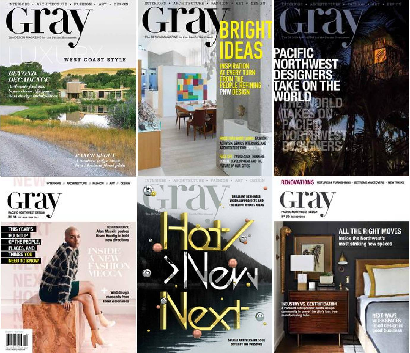 Gray Magazine - 2016 Full Year Issues Collection