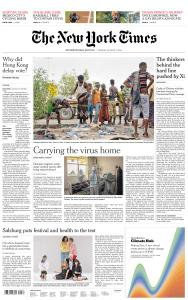 International New York Times - 4 August 2020