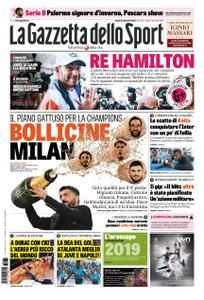 La Gazzetta dello Sport – 31 dicembre 2018