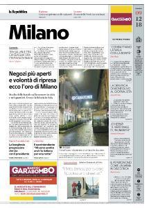 la Repubblica Milano - 9 Dicembre 2018
