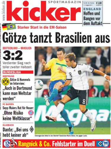 Kicker Magazin No 65 vom 11 August 2011