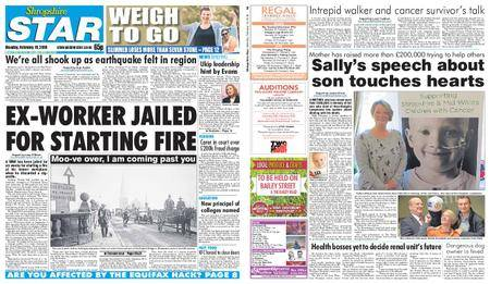 Shropshire Star Shrewsbury Edition – February 19, 2018