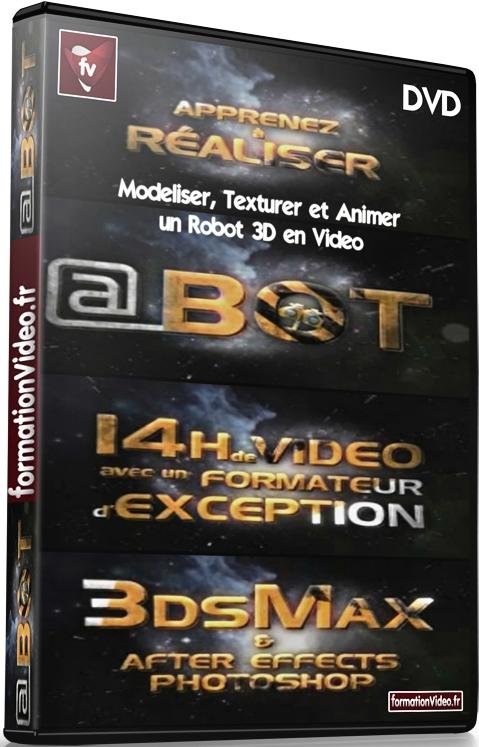 Modeliser, Texturer et Animer un Robot 3D en Vidéo