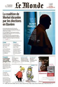 Le Monde du Mardi 16 Octobre 2018