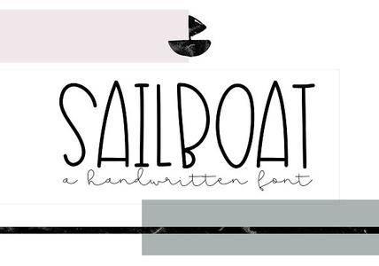 CreativeMarket - Sailboat - A Cute Handwritten Font 2582880