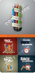 Back to school concept vector 4