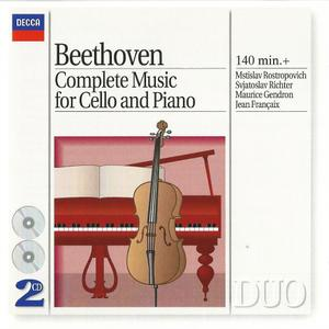Rostropovich, Richter, Gendron, Françaix - Beethoven: Complete Music for Cello and Piano (1994)