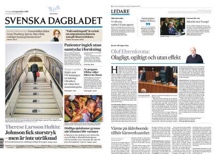 Svenska Dagbladet – 25 september 2019