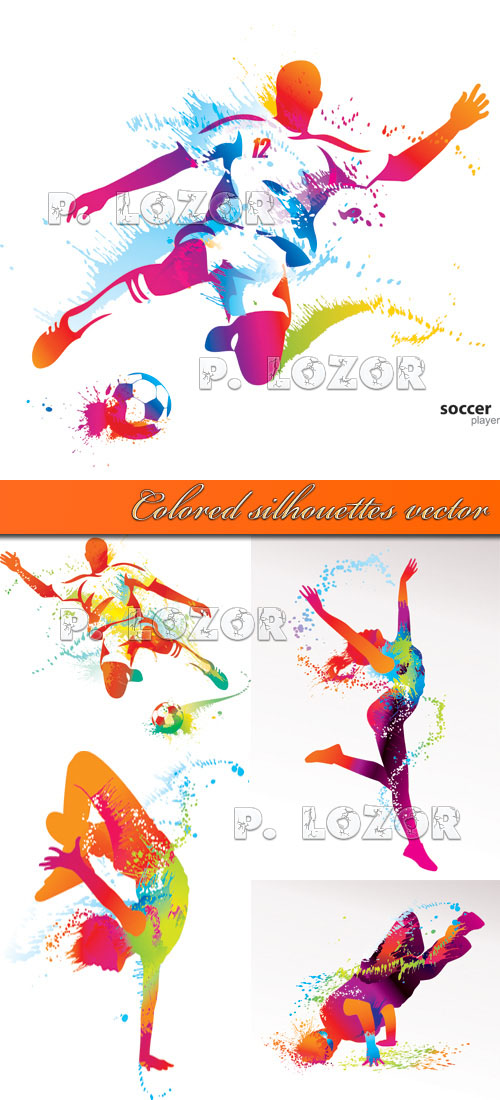 Colored silhouettes vector