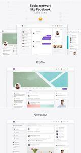 Clone UI Kit - Social network like Facebook