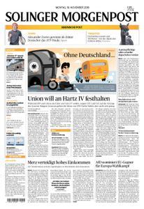 Solinger Morgenpost – 19. November 2018