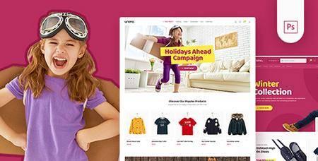 ThemeForest - Uneno - Kids Fashion eCommerce PSD Template 22479389