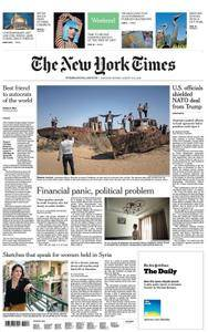 International New York Times - 11 August 2018
