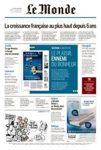 Le Monde du Mercredi 31 Janvier 2018