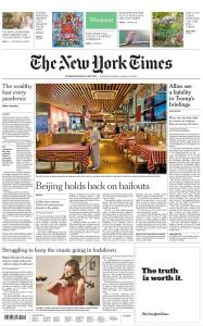 International New York Times - 11-12 April 2020