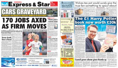 Express and Star Sandwell Edition – July 03, 2019