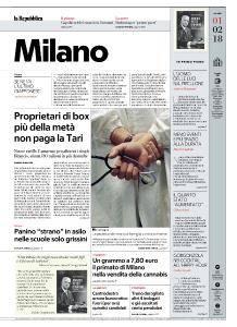 la Repubblica Milano - 1 Febbraio 2018