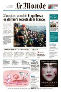Le Monde du Vendredi 16 Mars 2018