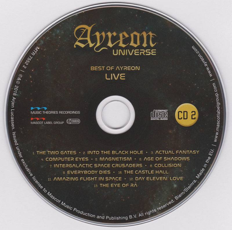 Ayreon - Ayreon Universe: The Best of Ayreon Live (2018) [2CD, Blu-ray 1080p & BDRip 720p]