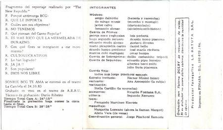 (Very Rare) Antimurga BCG - Sonrie , la BCG te ama (1984)