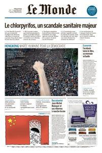 Le Monde du Mardi 18 Juin 2019