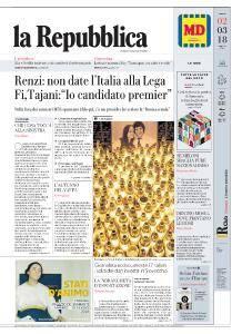 la Repubblica - 2 Marzo 2018