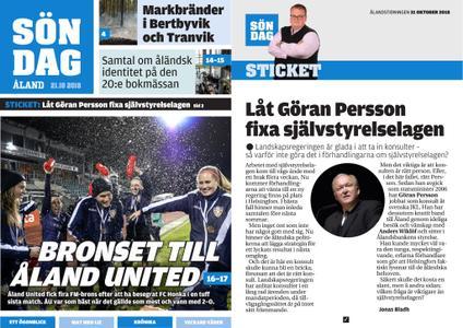 Ålandstidningen – 21 oktober 2018