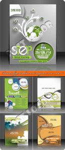 Business flyer brochure and magazine cover vector 15