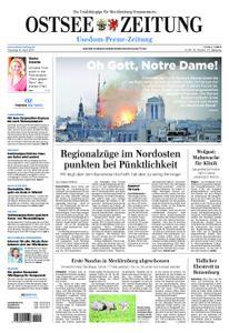 Ostsee Zeitung Wolgast - 16. April 2019