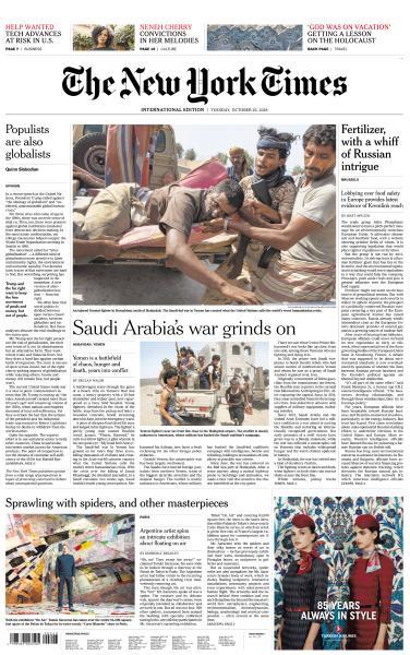 International New York Times - 23 October 2018