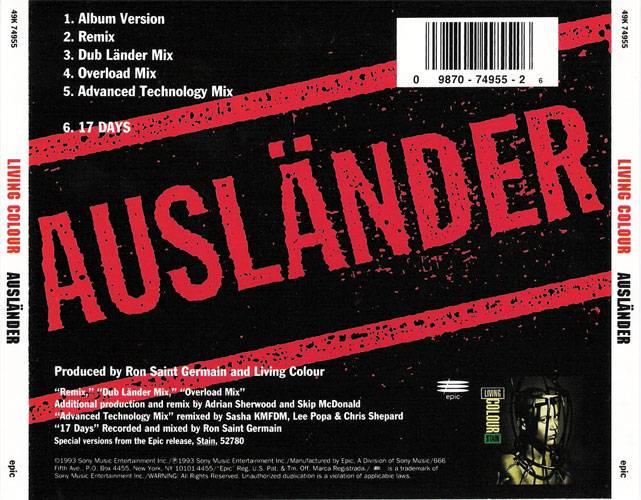 Living Colour - Ausländer (CD5) (1993) {Epic} **[RE-UP]**